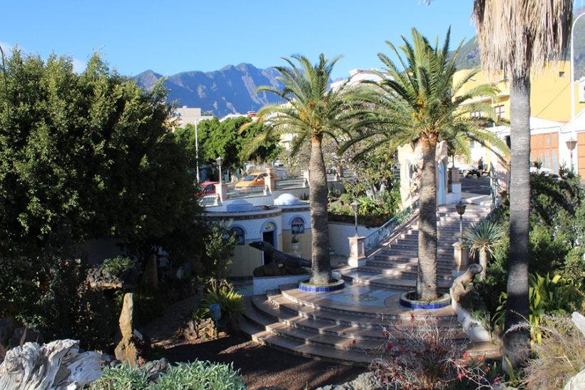 Blick auf den Park in Los Llanos de Aridane, La Palma, Kanaren