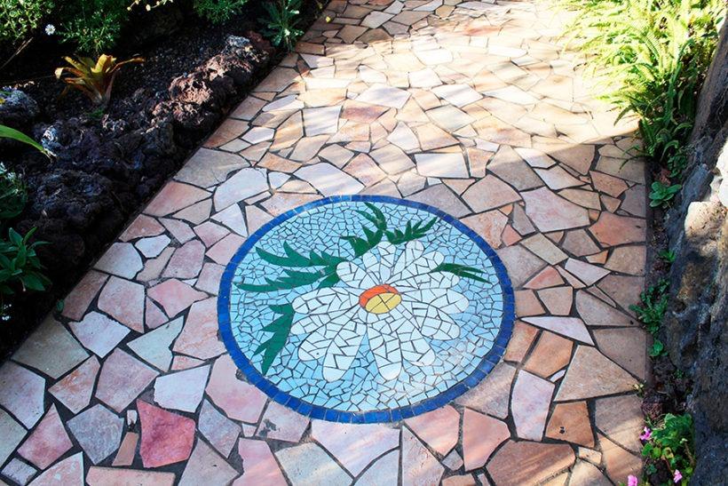 Mosaike im Park Antonio Gómez Felipe, Los Llanos de Aridane