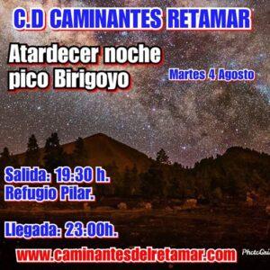 "Wanderung ""Atardecer noche pico Birigoyo"""