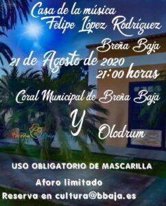 Konzert des Stadtchors von Breña Baja und Olodum
