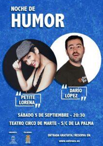 """Teatro Circo de Marte """"Noche De Humor"""""""