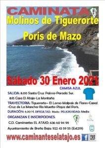 Wanderung Molinos de Tiguerorte – Poris Mazo