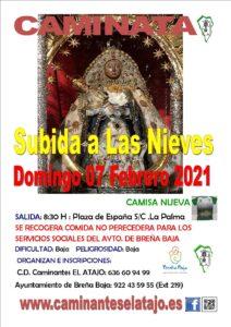 Wanderung Subida a Las Nieves
