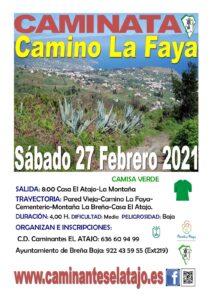Wanderung Camino La Faya